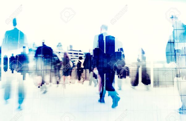 31336884-business-people-walking-on-a-city-scape-stock-photo-crowd