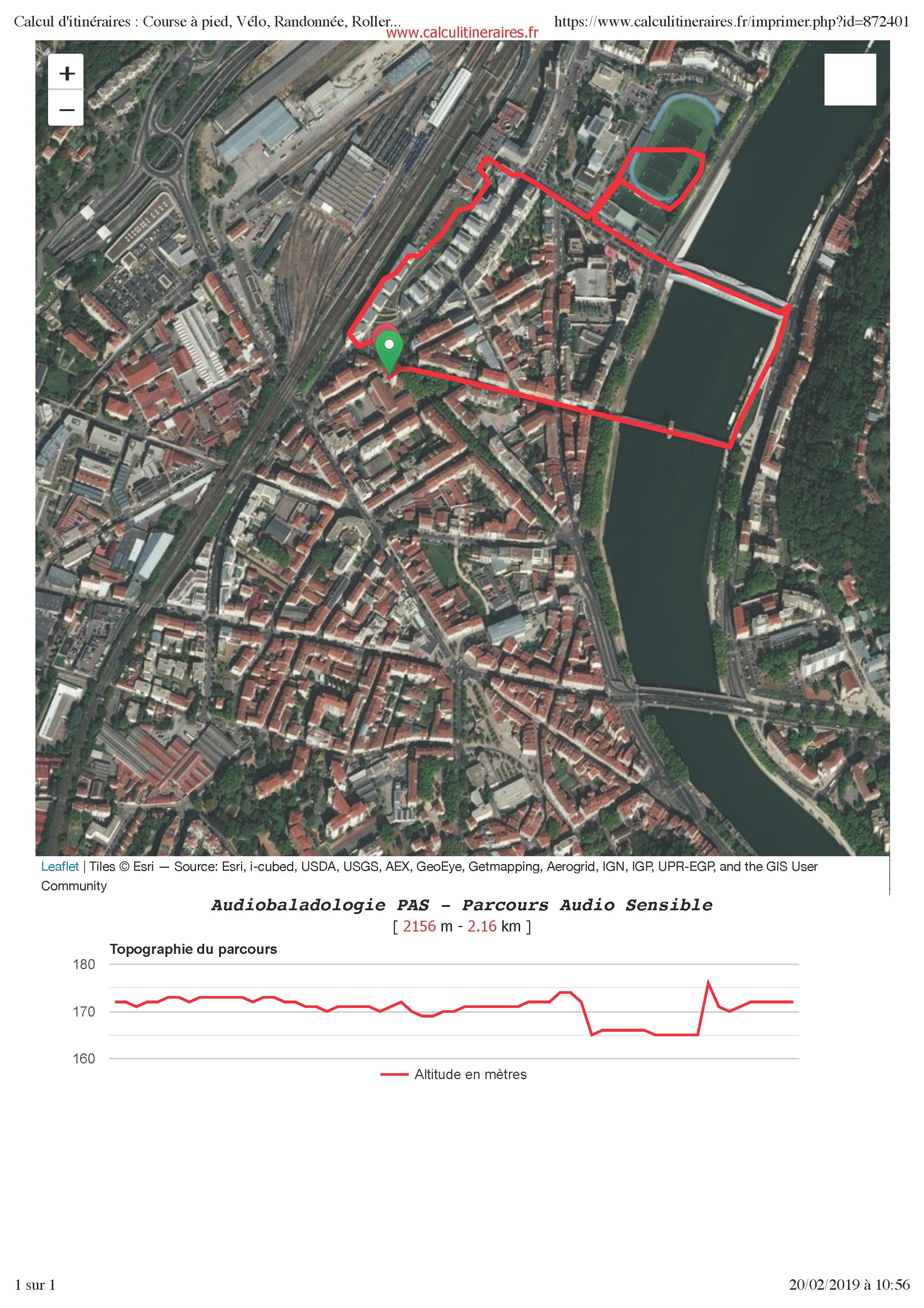 Calcul d'itinéraires - Course à pied, Vélo, Randonnée, Roller...